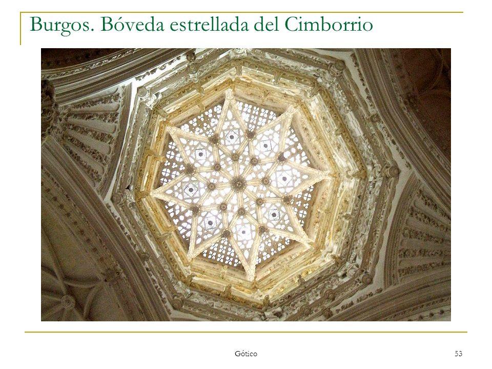 Burgos. Bóveda estrellada del Cimborrio