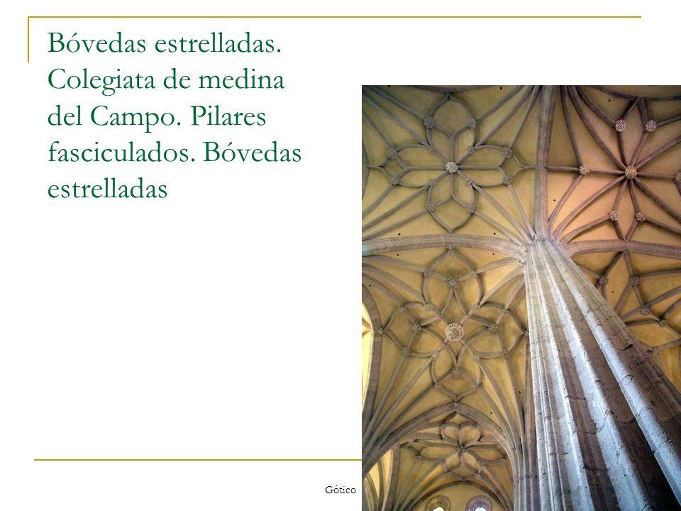 Bóvedas estrelladas. Colegiata de medina del Campo