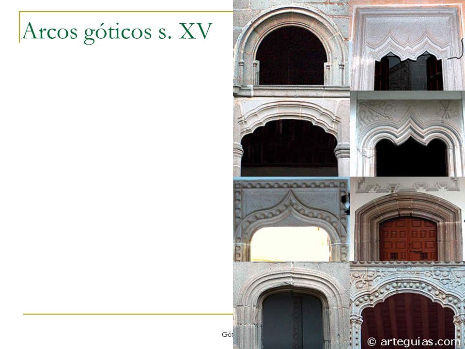 Arcos góticos s. XV Gótico