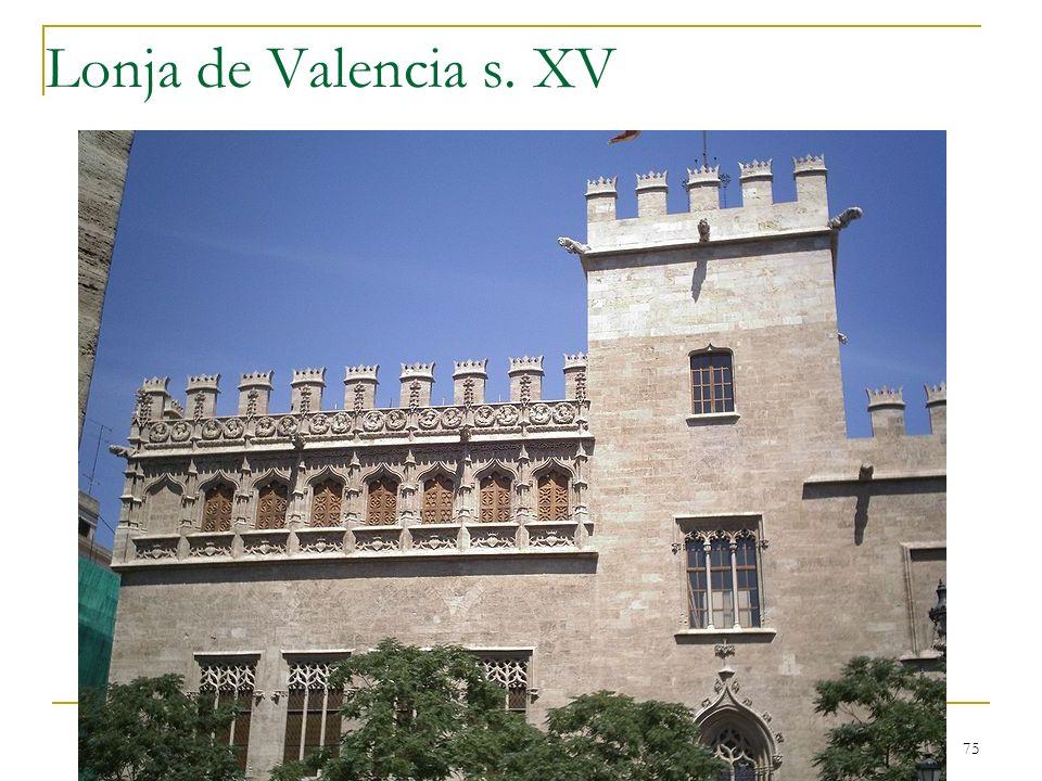 Lonja de Valencia s. XV Gótico