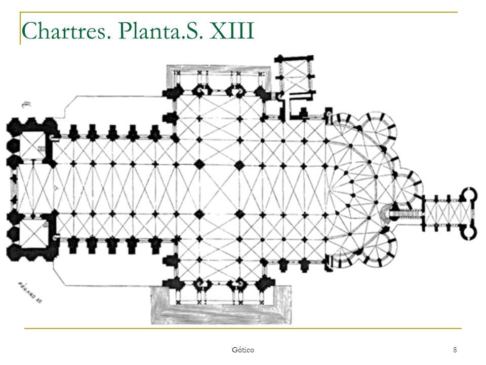 Chartres. Planta.S. XIII Gótico