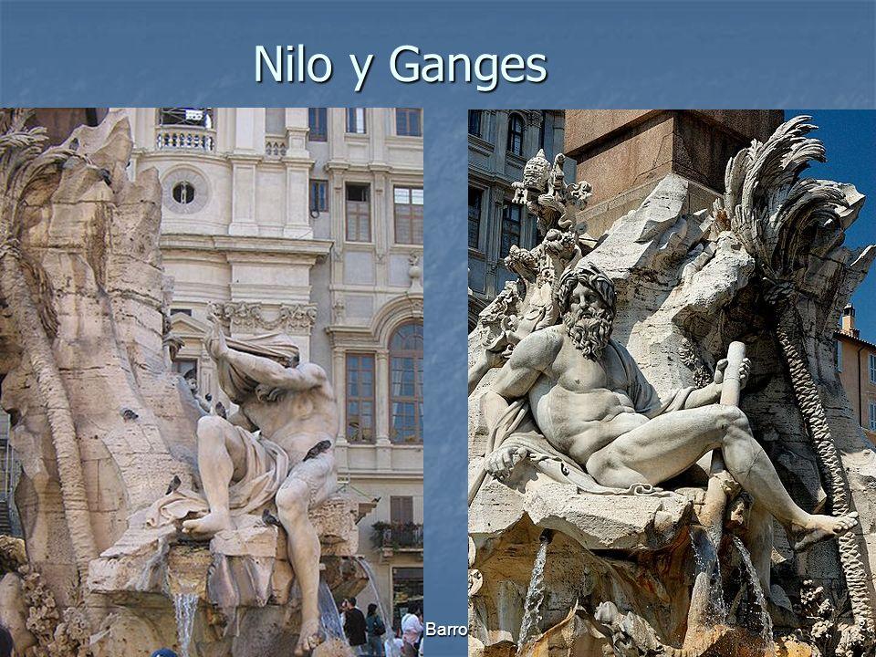 Nilo y Ganges Arte Barroco