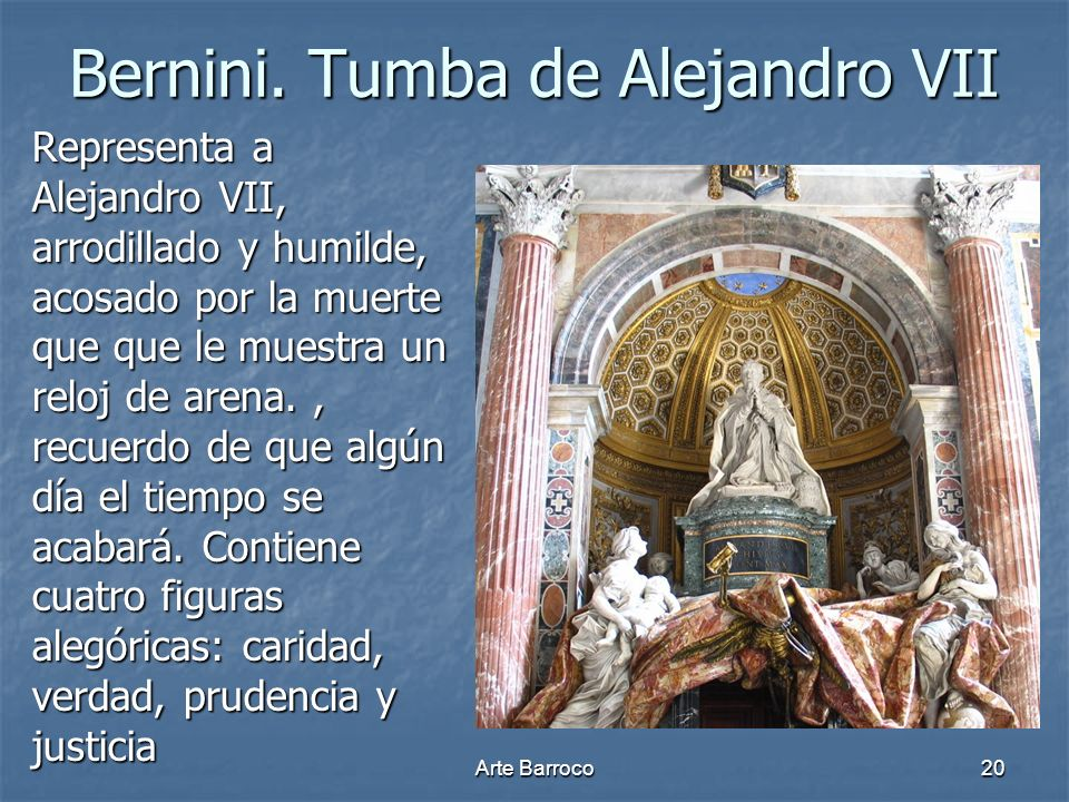 Bernini. Tumba de Alejandro VII