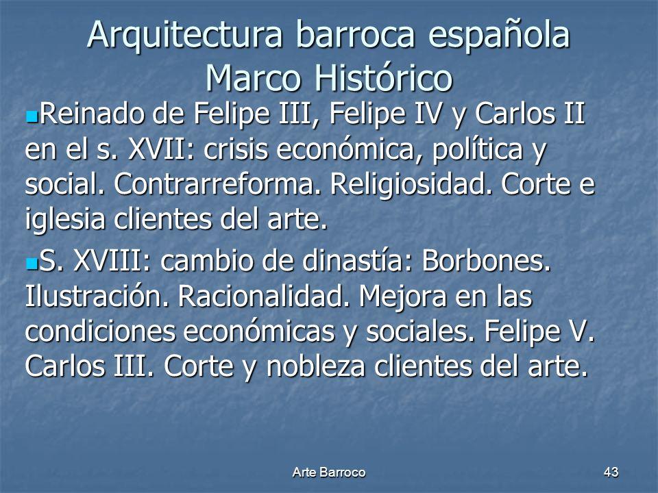Arquitectura barroca española Marco Histórico