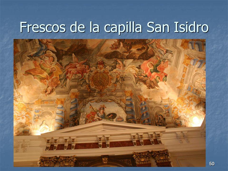Frescos de la capilla San Isidro