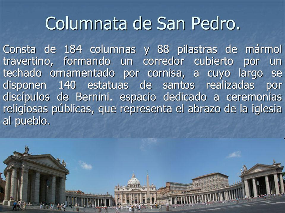 Columnata de San Pedro.