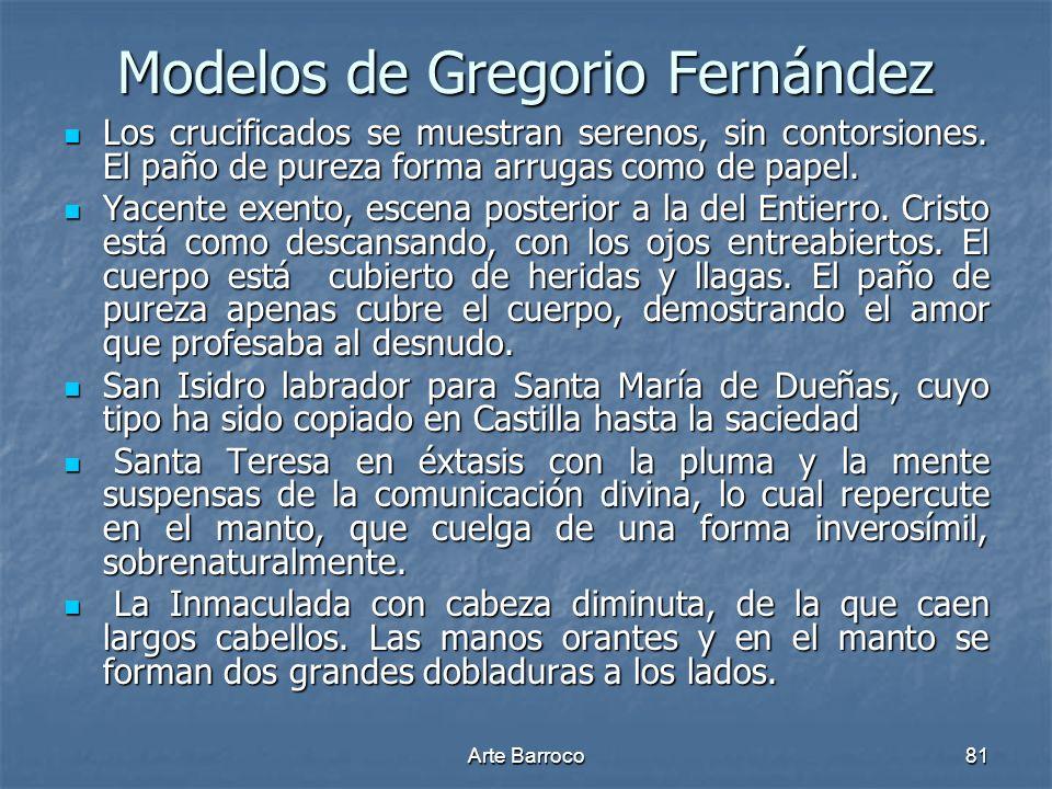 Modelos de Gregorio Fernández