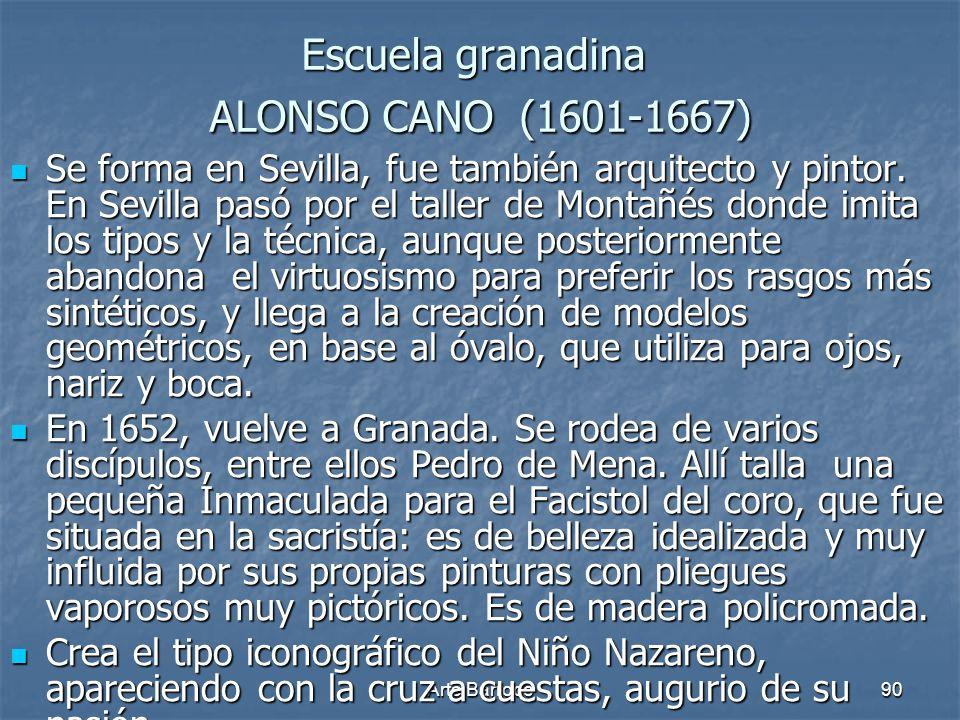 Escuela granadina ALONSO CANO (1601-1667)