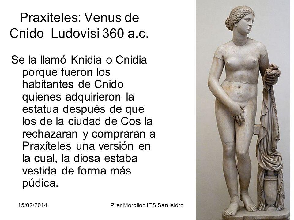 Praxiteles: Venus de Cnido Ludovisi 360 a.c.