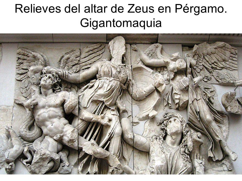 Relieves del altar de Zeus en Pérgamo. Gigantomaquia