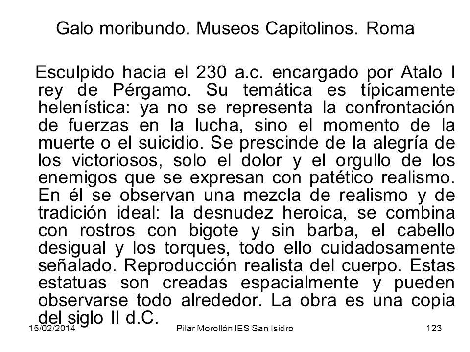 Galo moribundo. Museos Capitolinos. Roma