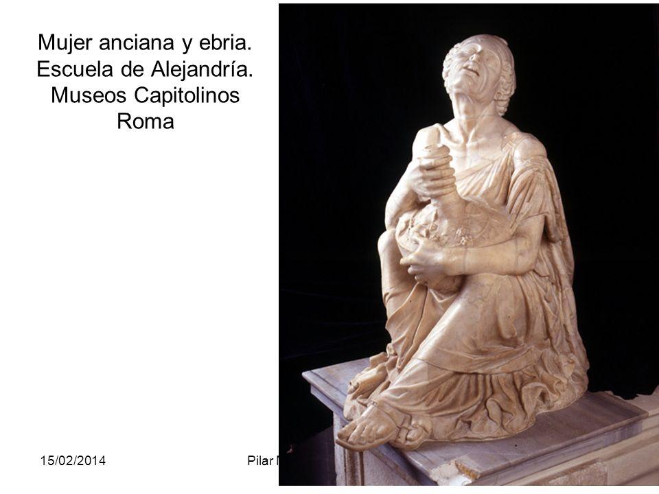 Mujer anciana y ebria. Escuela de Alejandría. Museos Capitolinos Roma