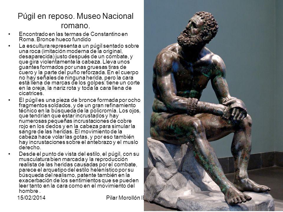 Púgil en reposo. Museo Nacional romano.