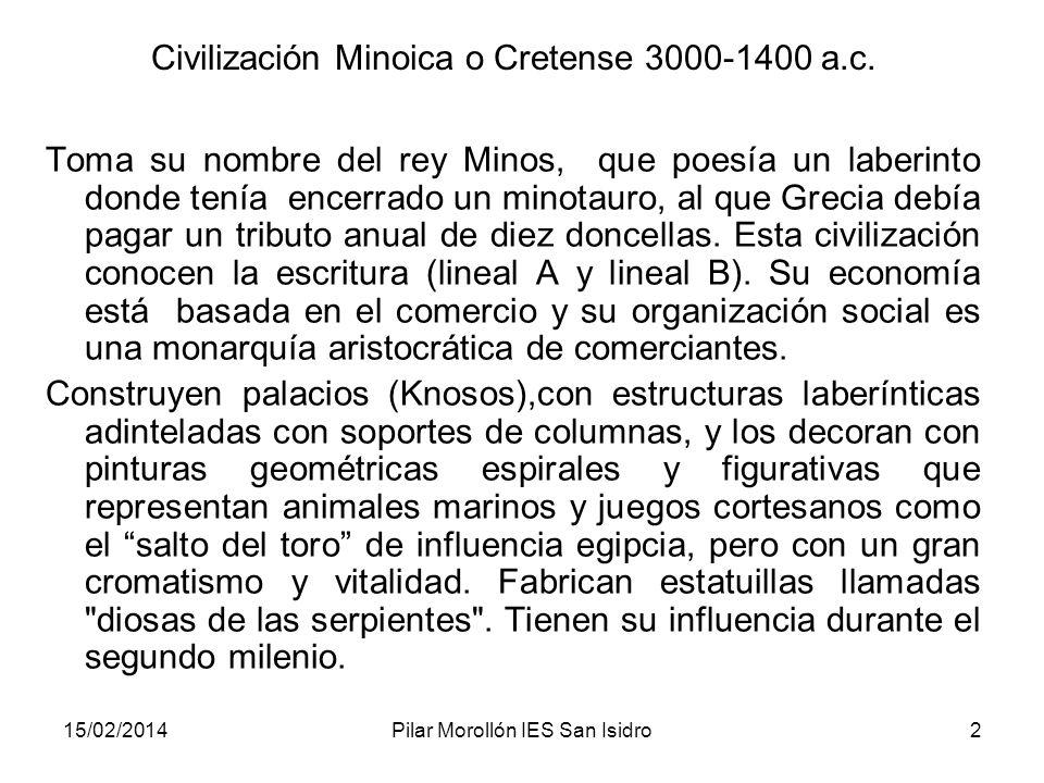 Civilización Minoica o Cretense 3000-1400 a.c.