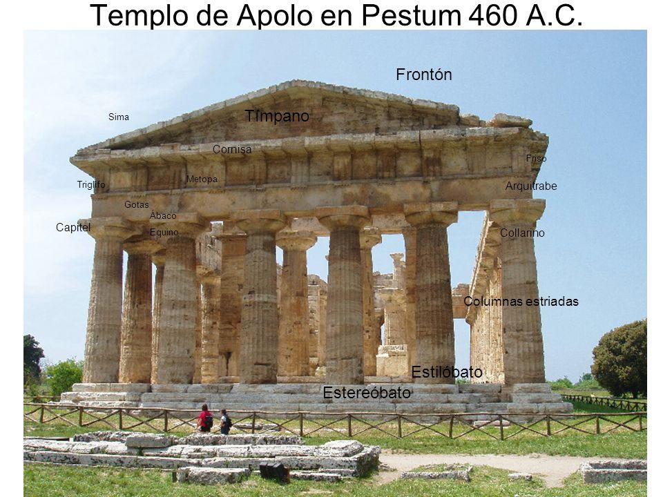 Templo de Apolo en Pestum 460 A.C.
