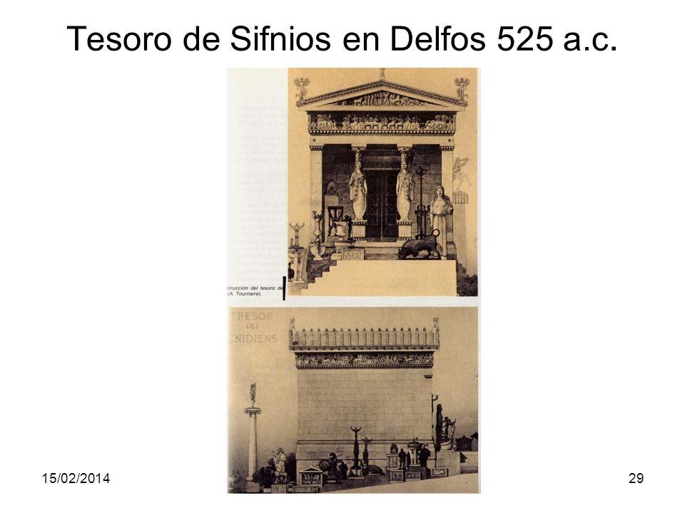 Tesoro de Sifnios en Delfos 525 a.c.