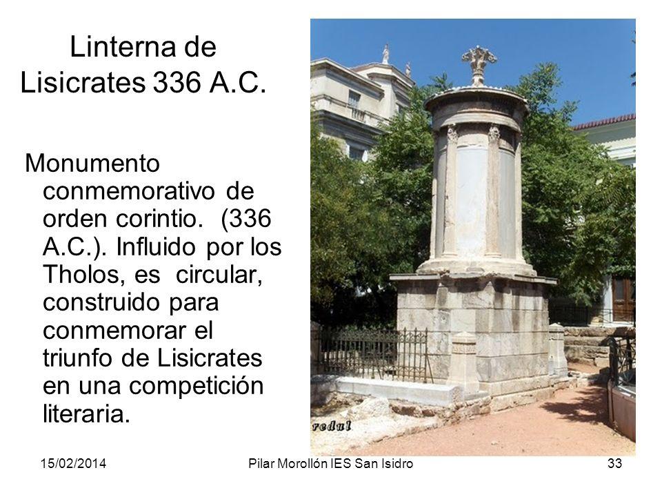 Linterna de Lisicrates 336 A.C.