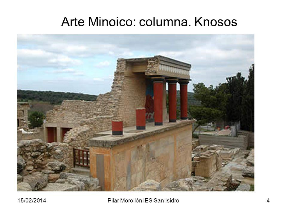 Arte Minoico: columna. Knosos
