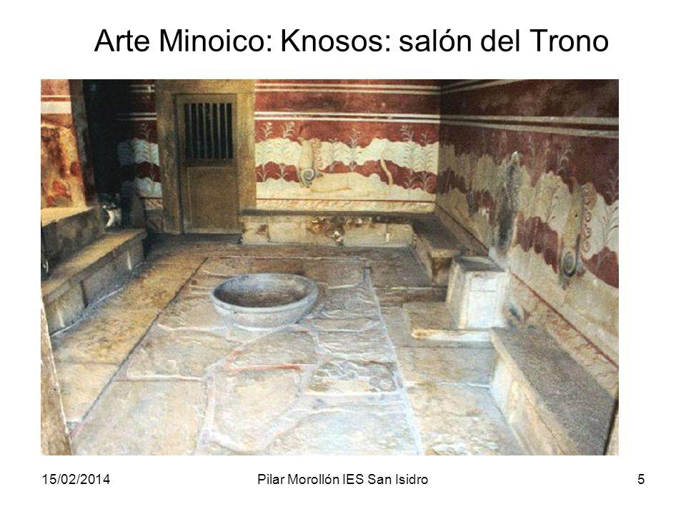 Arte Minoico: Knosos: salón del Trono