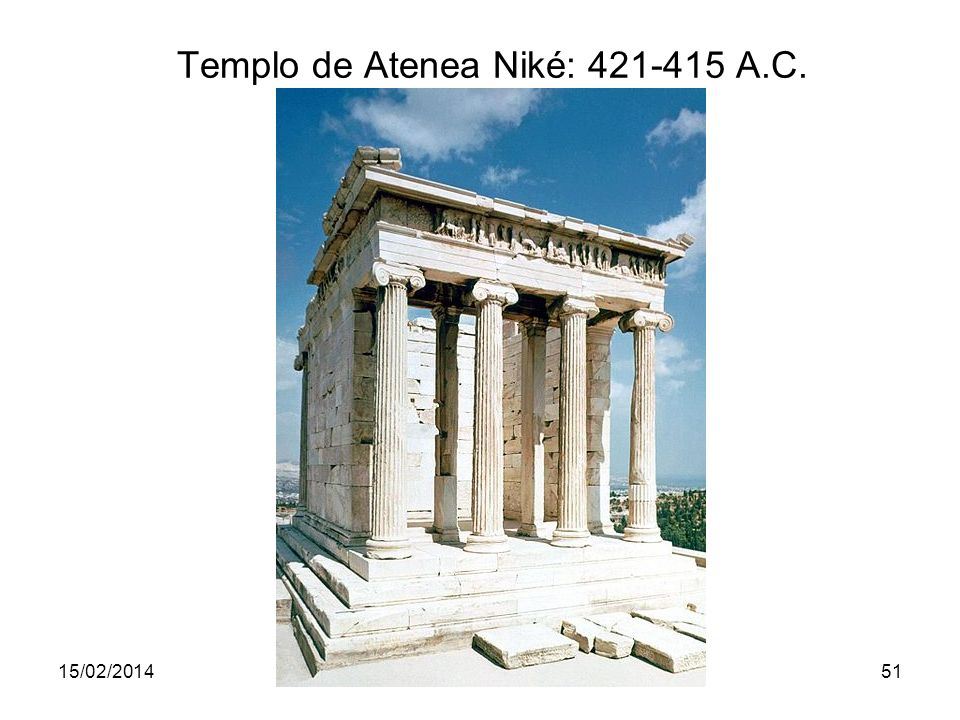 Templo de Atenea Niké: 421-415 A.C.