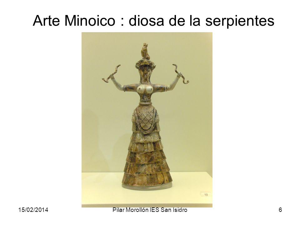Arte Minoico : diosa de la serpientes