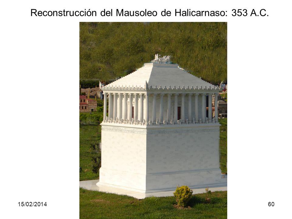 Reconstrucción del Mausoleo de Halicarnaso: 353 A.C.