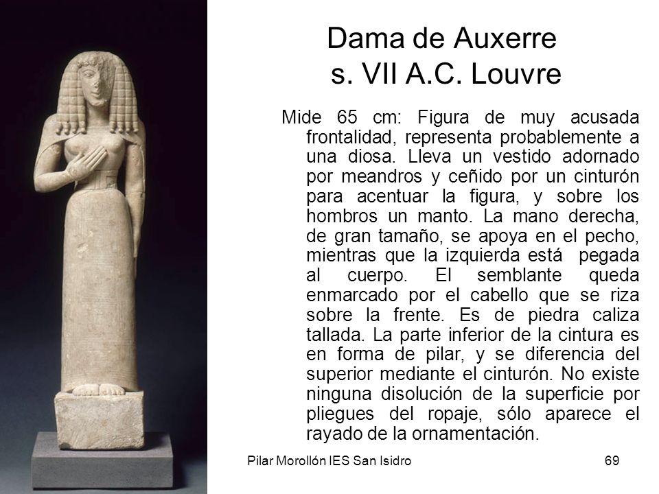 Dama de Auxerre s. VII A.C. Louvre