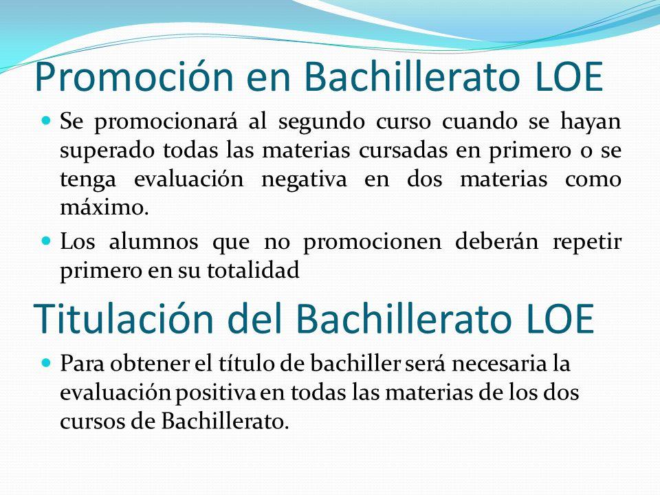 Promoción en Bachillerato LOE
