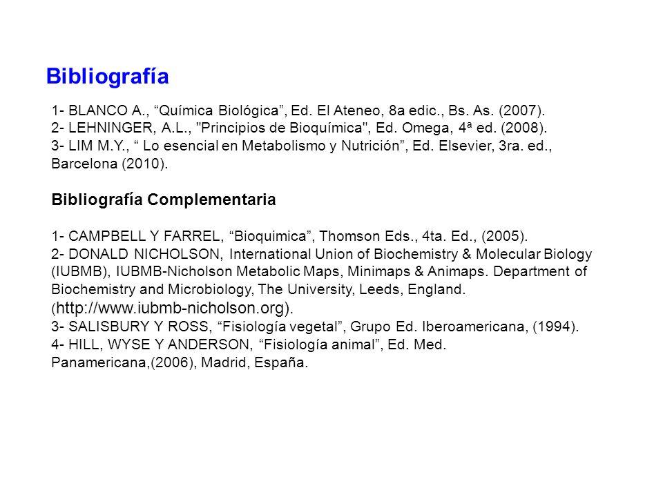 Bibliografía Bibliografía Complementaria