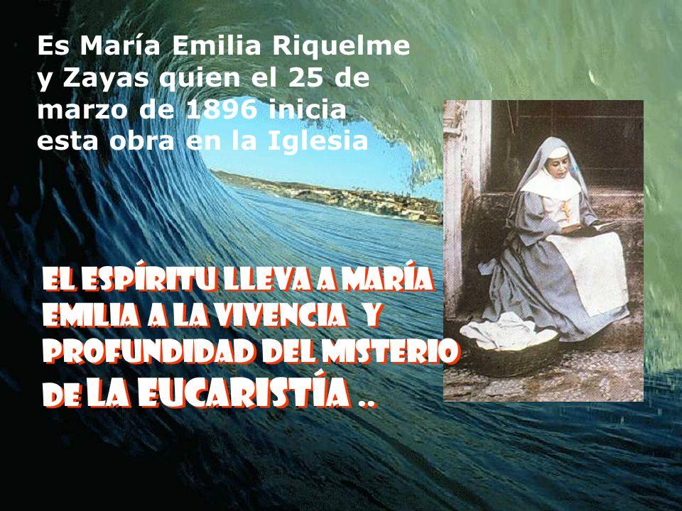 Es María Emilia Riquelme y Zayas quien el 25 de marzo de 1896 inicia esta obra en la Iglesia
