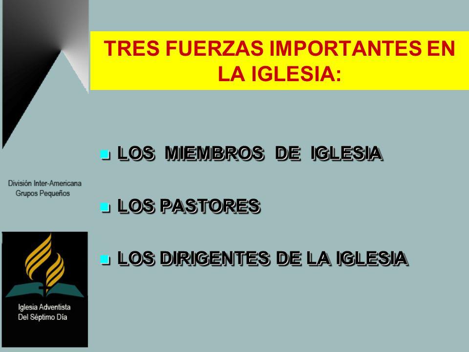 TRES FUERZAS IMPORTANTES EN LA IGLESIA: