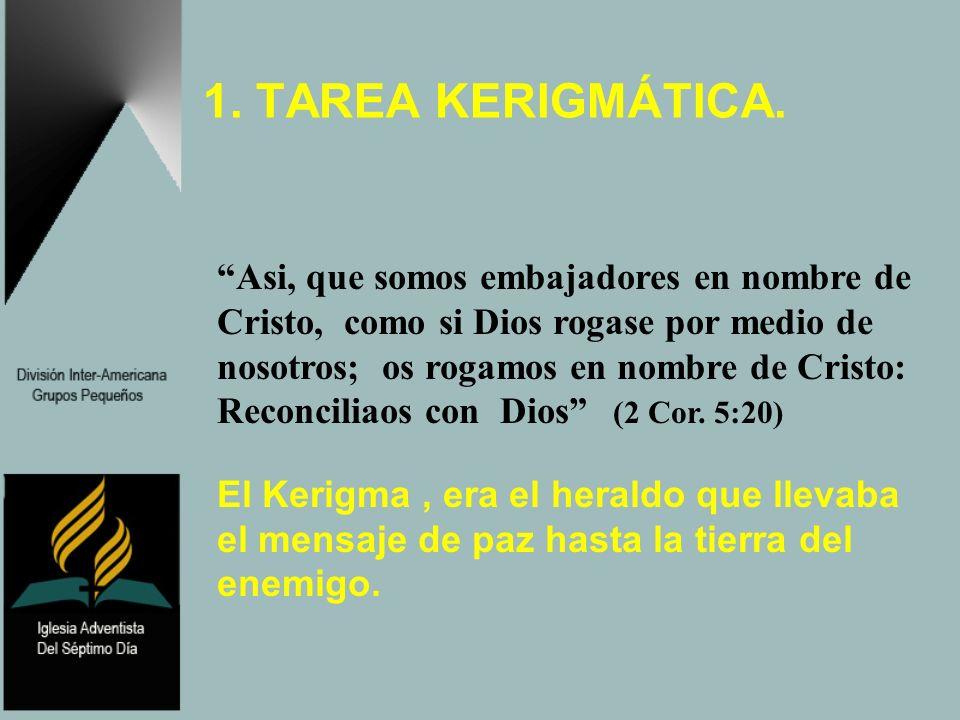 1. TAREA KERIGMÁTICA.