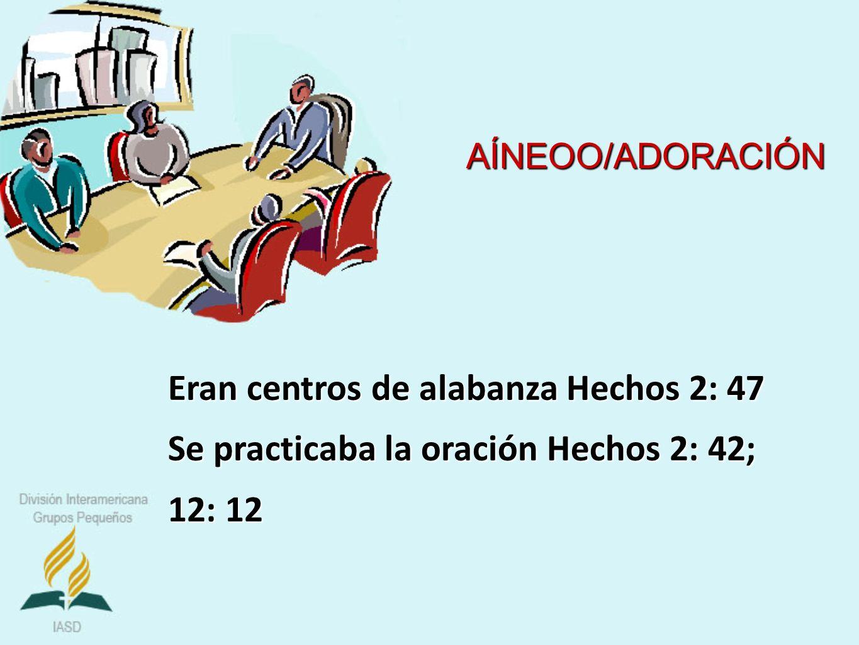 Eran centros de alabanza Hechos 2: 47