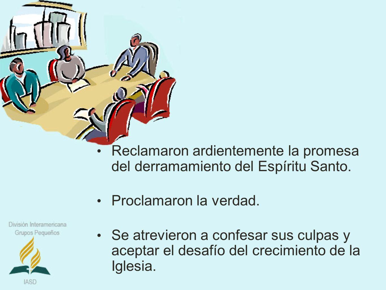Reclamaron ardientemente la promesa del derramamiento del Espíritu Santo.