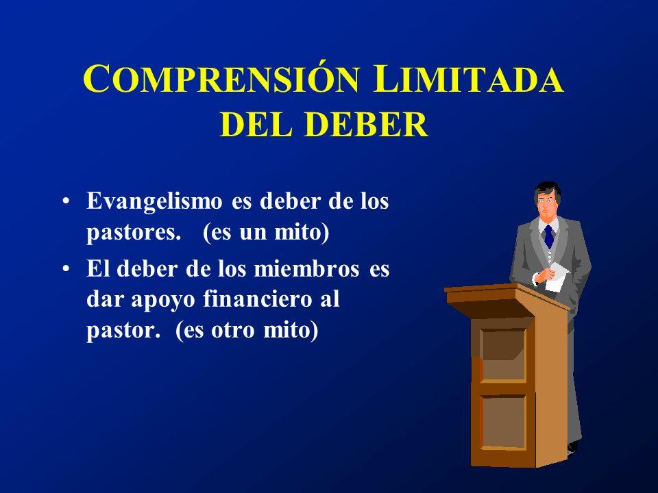 COMPRENSIÓN LIMITADA DEL DEBER