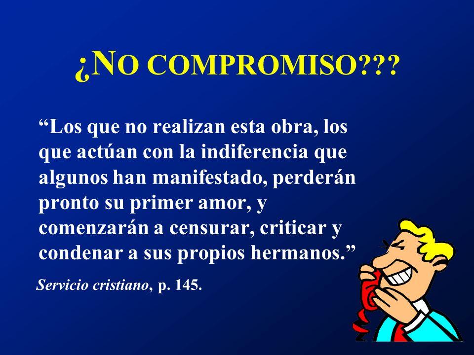 ¿NO COMPROMISO