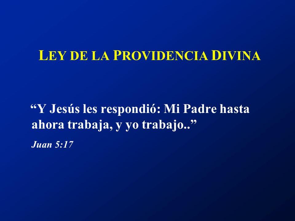 LEY DE LA PROVIDENCIA DIVINA