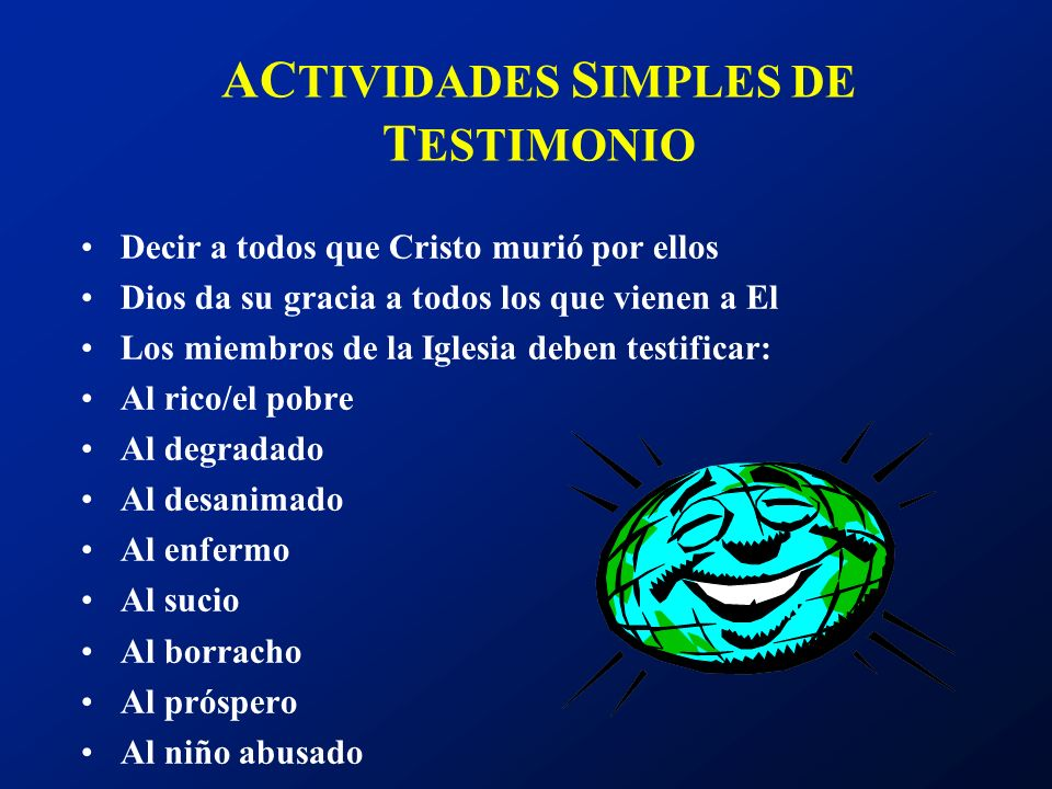 ACTIVIDADES SIMPLES DE TESTIMONIO
