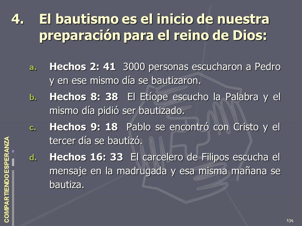 El bautismo es el inicio de nuestra preparación para el reino de Dios: