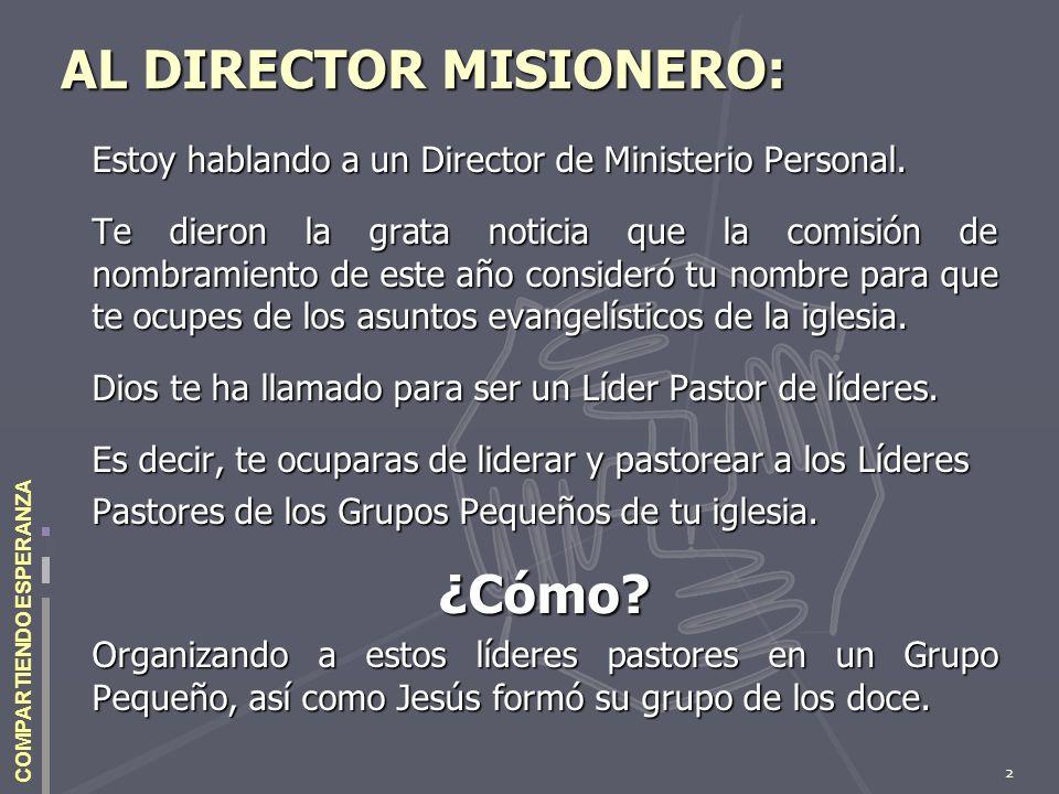 AL DIRECTOR MISIONERO:
