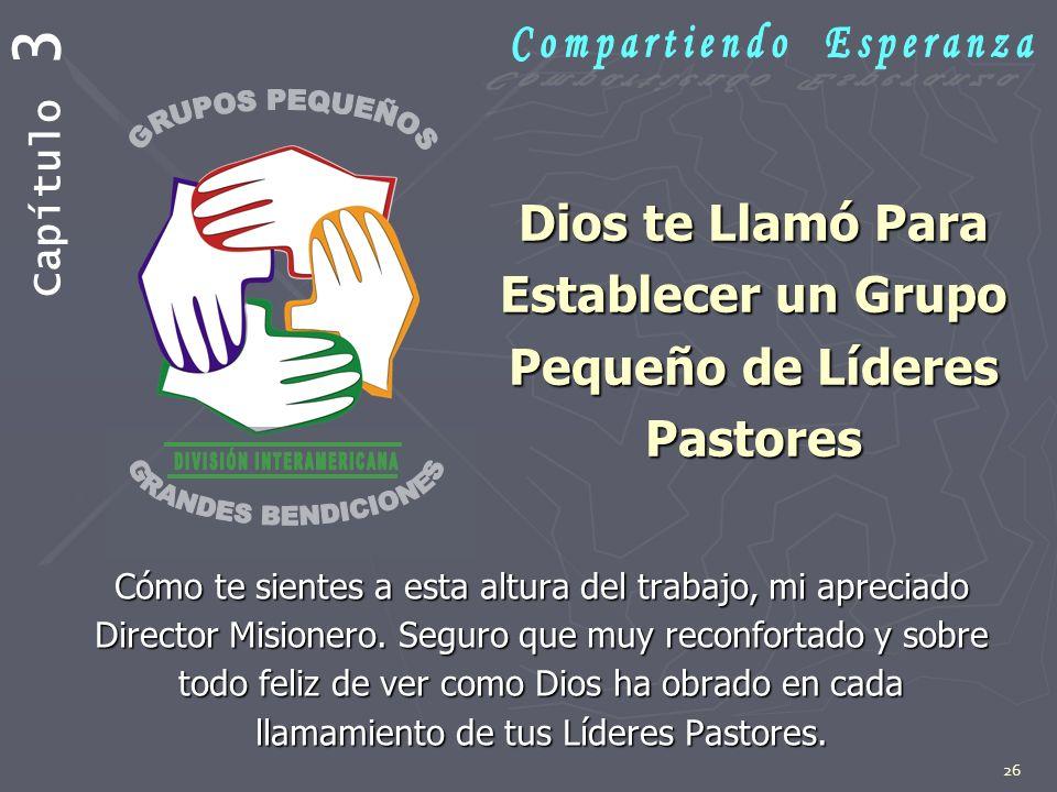 Dios te Llamó Para Establecer un Grupo Pequeño de Líderes Pastores