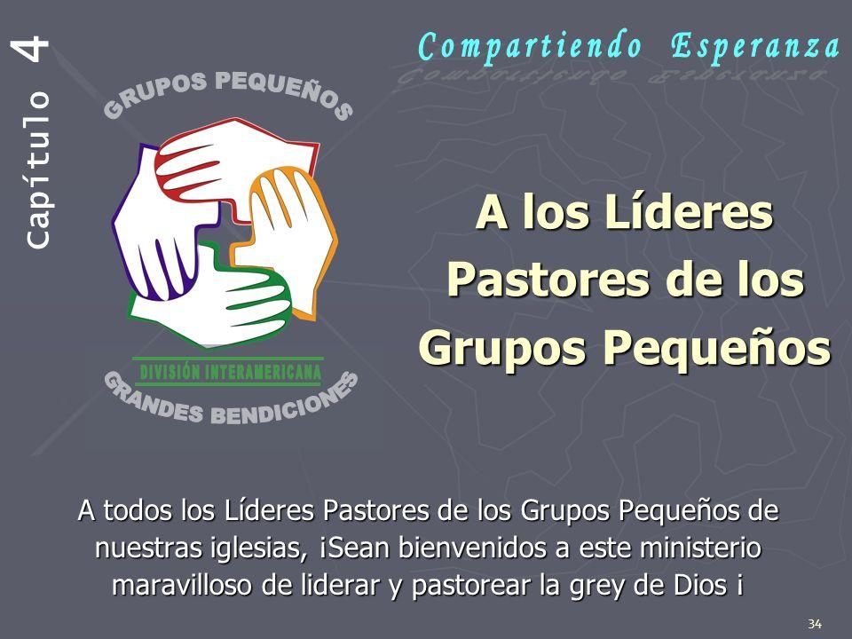 A los Líderes Pastores de los Grupos Pequeños