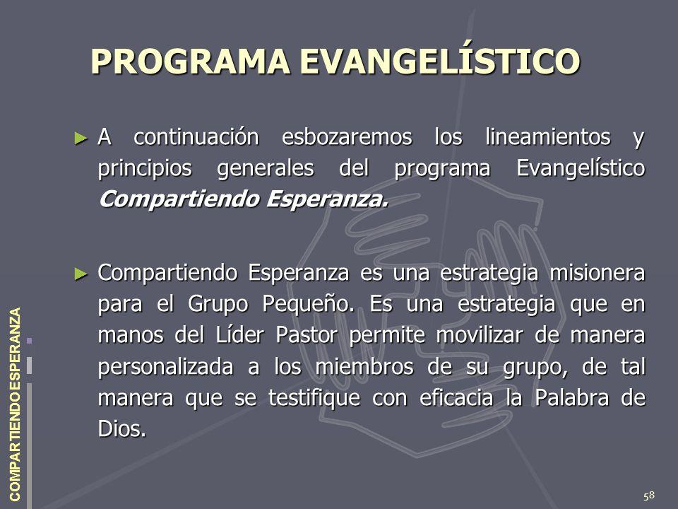 PROGRAMA EVANGELÍSTICO