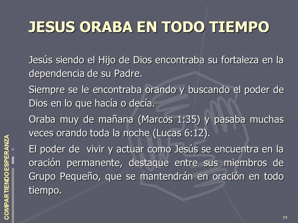 JESUS ORABA EN TODO TIEMPO