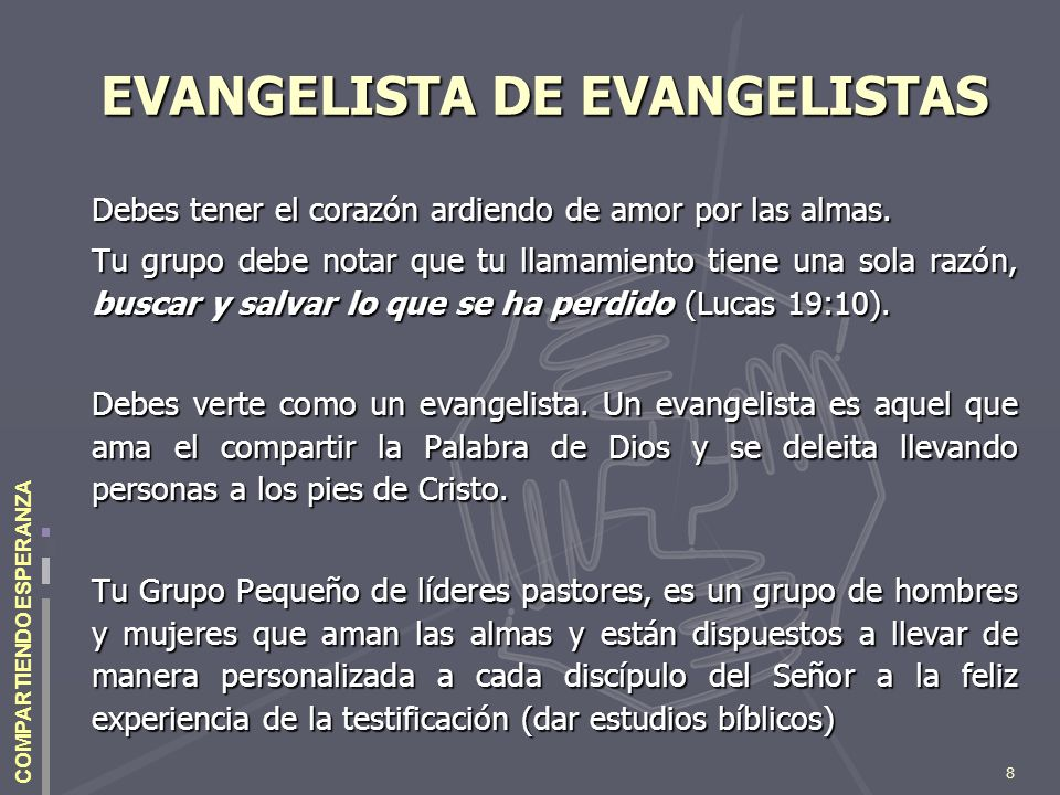 EVANGELISTA DE EVANGELISTAS