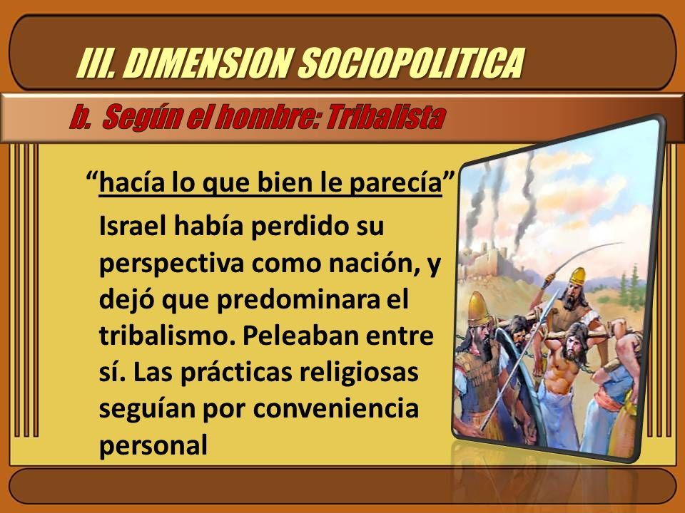 III. DIMENSION SOCIOPOLITICA