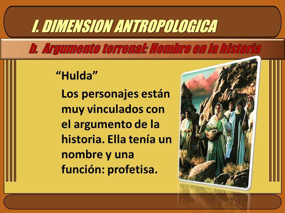 I. DIMENSION ANTROPOLOGICA