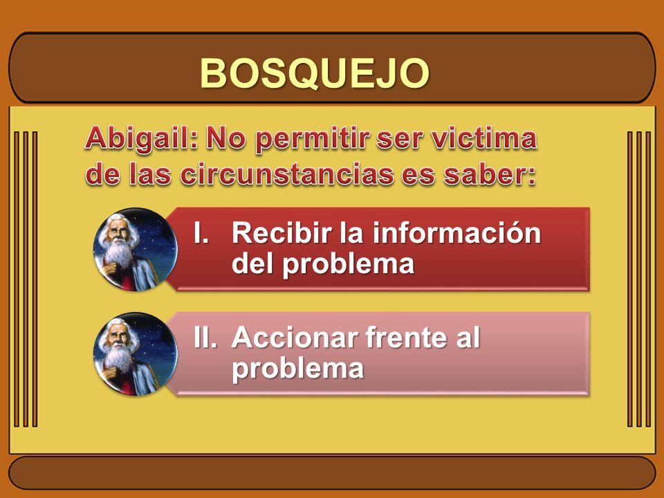 BOSQUEJO I. Recibir la información del problema