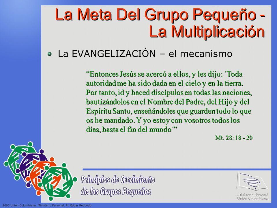 La Meta Del Grupo Pequeño - La Multiplicación