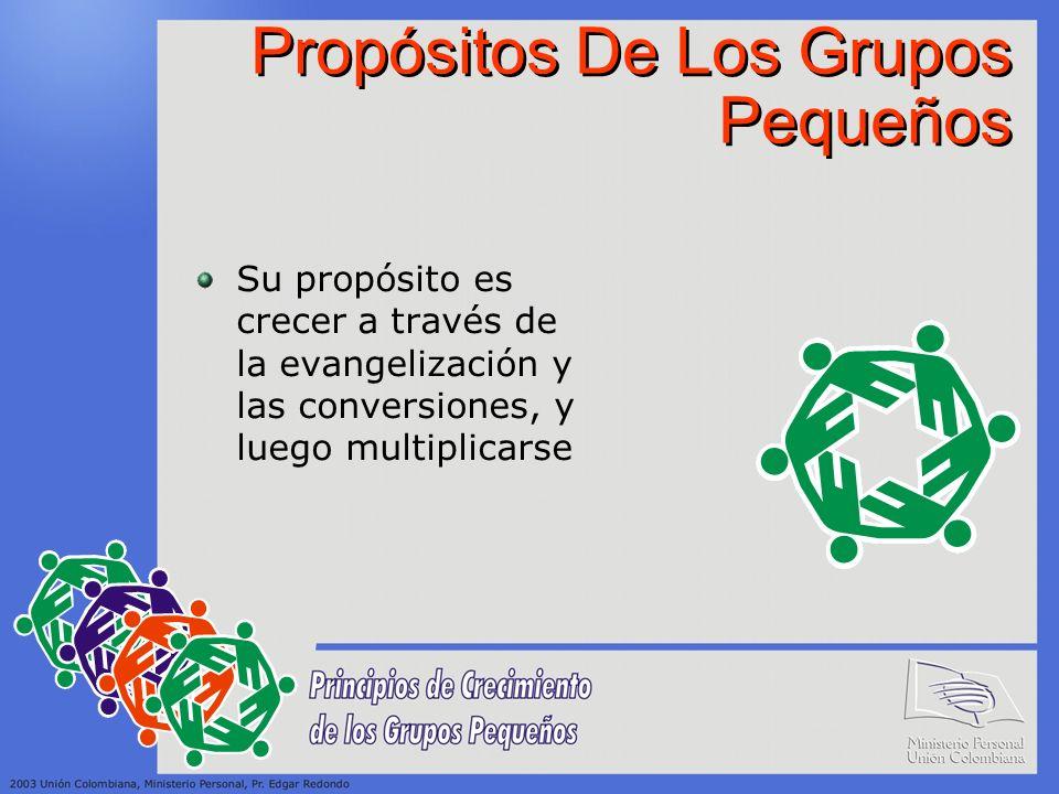 Propósitos De Los Grupos Pequeños